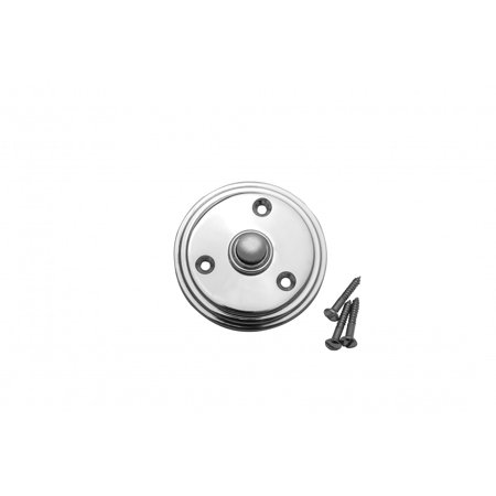 Chrome Plated Brass Doorbell Button Mounting Screws Included (Chrome Doorbell)