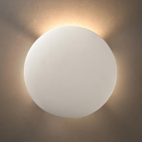 Justice Design Group Circle Ceramic 1-light ADA Sconce