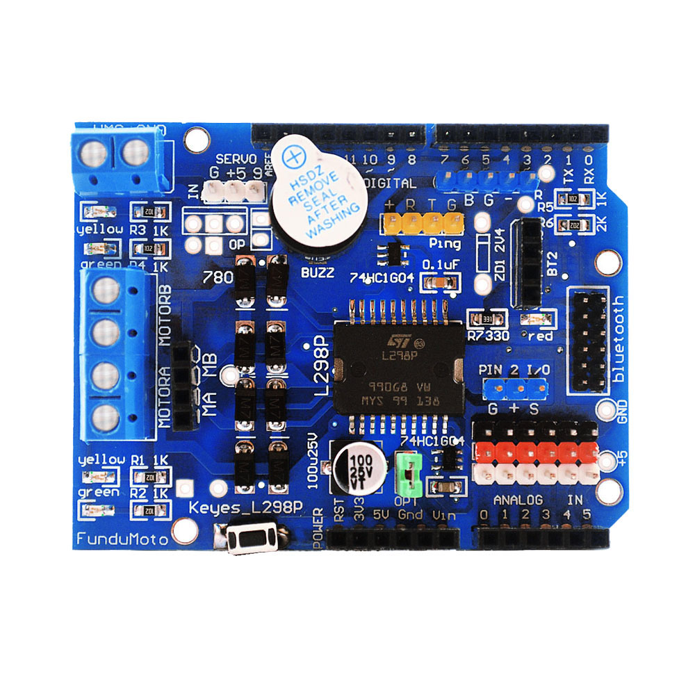L298P Motor Drive Module Shield Expansion Board for Arduino