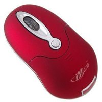 imicro optical wireless mini mouse (red)