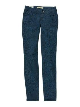 Bullhead Denim Co. Womens Low Rise Animal Skinny Fit Jeans, Multicoloured, 11/12