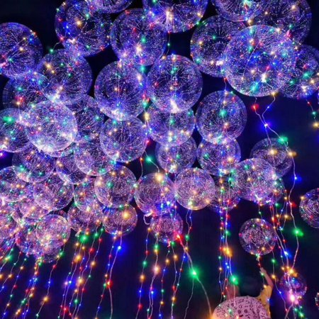 18 Inch Luminous Led Lighting Balloon Transpa Round Bubble Great For Christmas Party House Decorations Wedding And Decoration Lasts 72