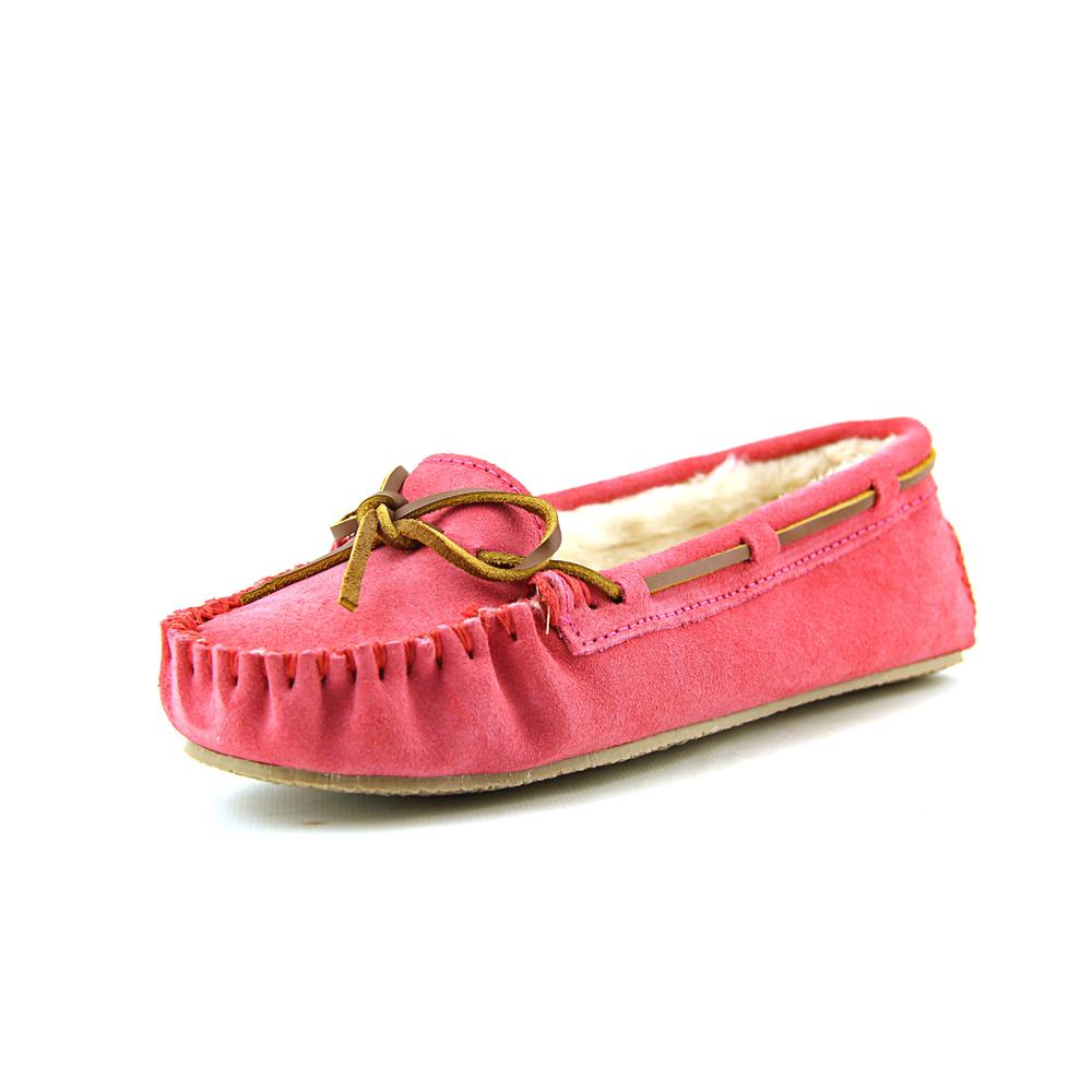 Minnetonka Cally Women Suede Pink Moccasin Slippers Shoes by Minnetonka