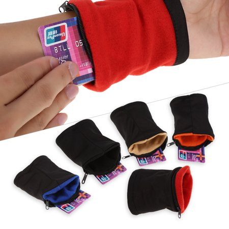 Hidden Wristlet - Dilwe 5Colors Outdoor Sport Running Jogging Exercise Gym Wrist Band Pouch Wristband Wallet, Sport Wrist Wallet, Running Wrist Wallet