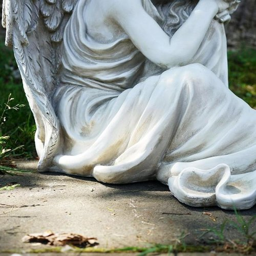 "19"" Resting Angel Religious Outdoor Garden Statue by Northlight"