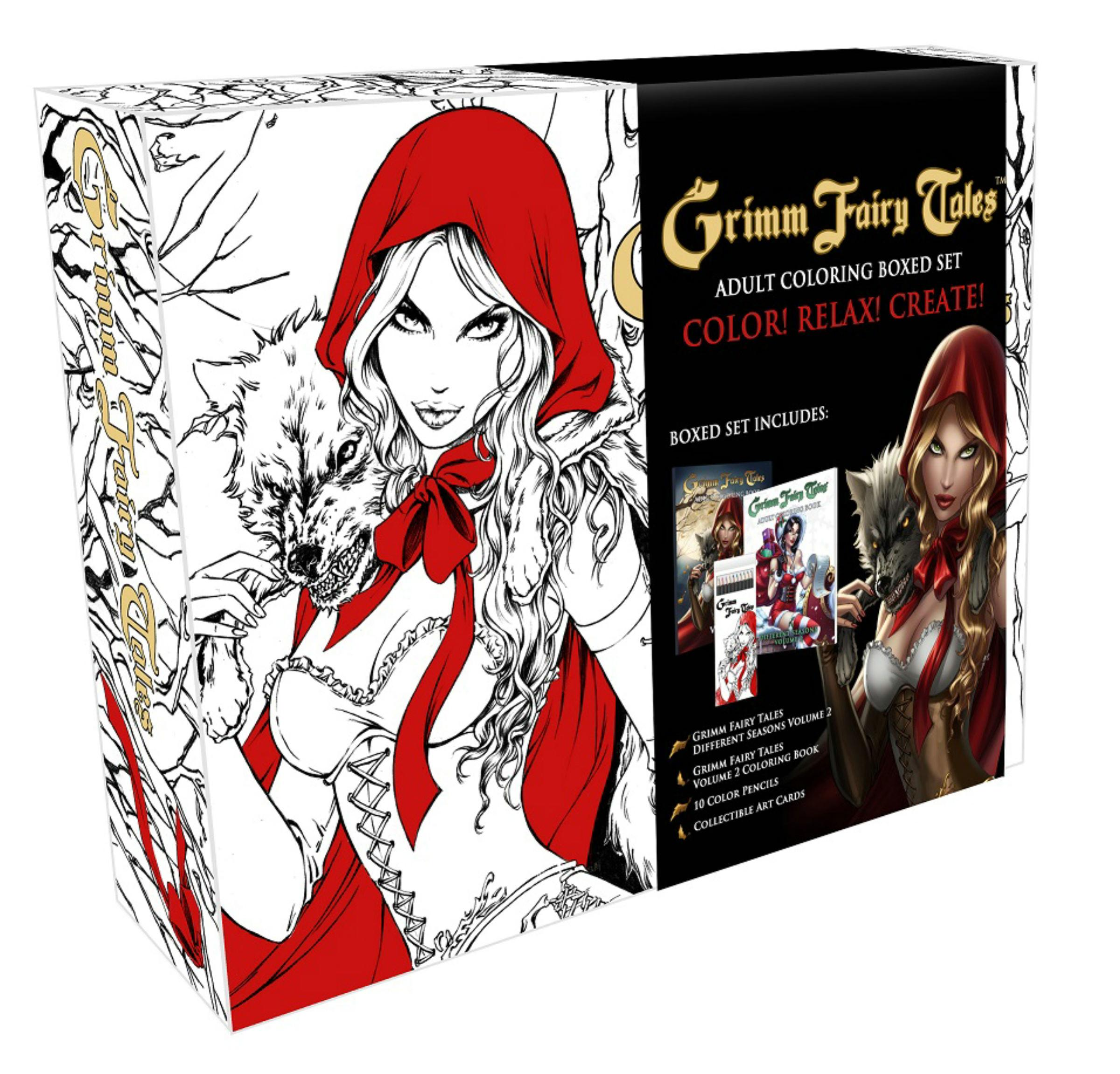 Grimm Fairy Tales Coloring Book Box Set by Zenescope Entertainment