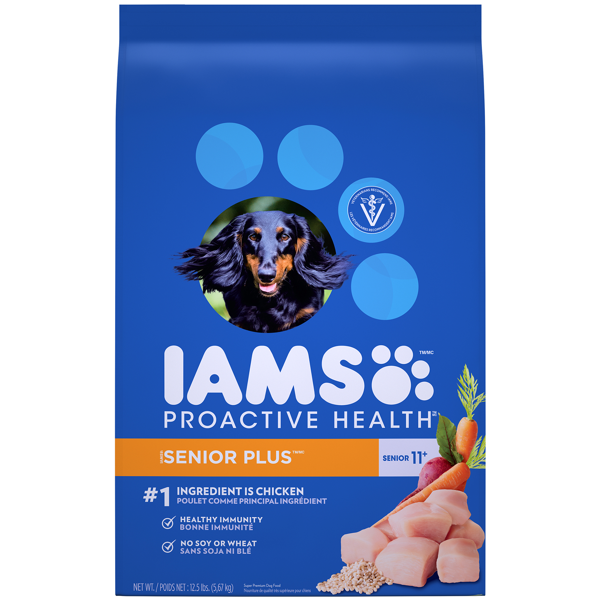 IAMS PROACTIVE HEALTH Senior Plus Dry Dog Food 12.5 Pounds
