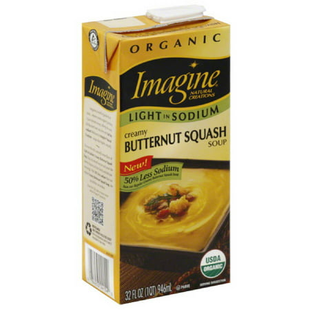 Imagine Natural Creations Organic Creamy Butternut Squash Soup, 32 fl oz, (Pack of 12) - Butternut Squash Halloween Recipe