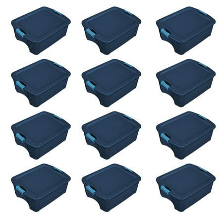 - Sterilite 12 Gallon Latch and Carry Storage Tote, True Blue | 14447406 (12 Pack)