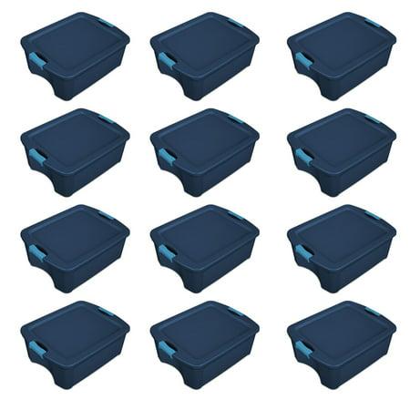Sterilite 12 Gallon Latch and Carry Storage Tote, True Blue   14447406 (12 - Blue Tote