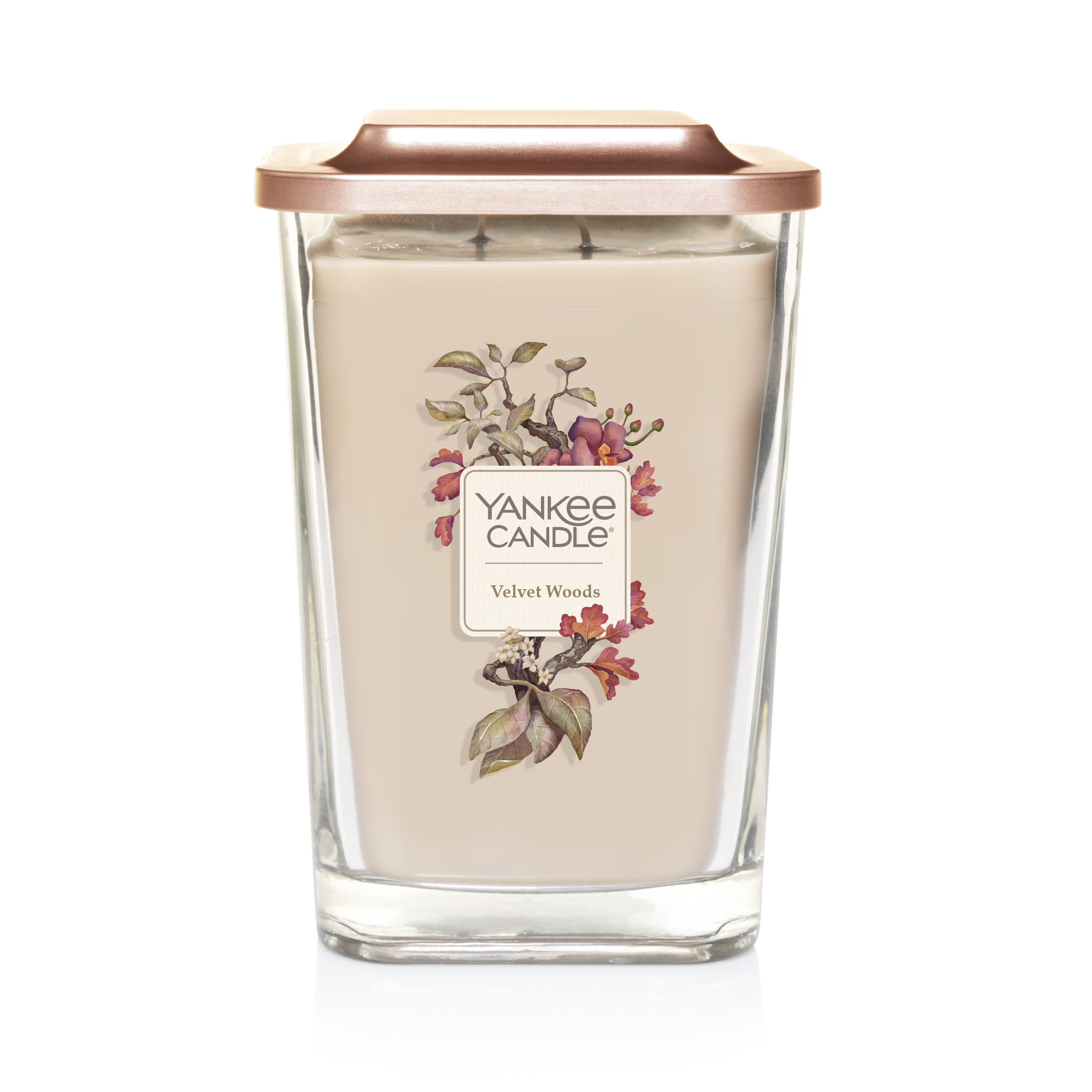 Yankee Candle Velvet Woods Elevation Collection with Platform Lid - Large 2-Wick Square Candle