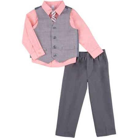 George Toddler Boy Linear Plaid Dress Set