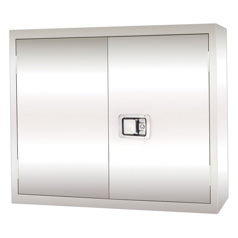 Edsal Stainless Steel Paddle Lock Wall Storage Cabinet