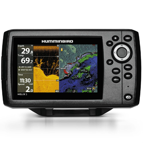 Humminbird Helix 5 CHIRP DI/GPS G2 Combo w/ 5 Color TFT Display & Down Imaging Sonar 410220-1