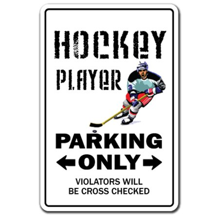HOCKEY PLAYER Aluminum Sign NHL street field stick puck fan | Indoor/Outdoor | 14
