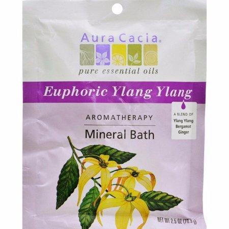 Aura Cacia Aromatherapy Mineral Bath Euphoria - 2.5 Oz - pack of 6
