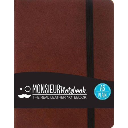 - Monsieur Notebook Brown Leather Plain Small (Hardcover)