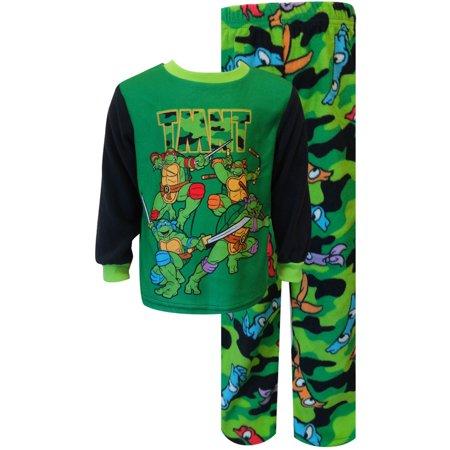 Teenage Mutant Ninja Turtle Camo Fleece Toddler Pajama Set - Ninja Pajamas