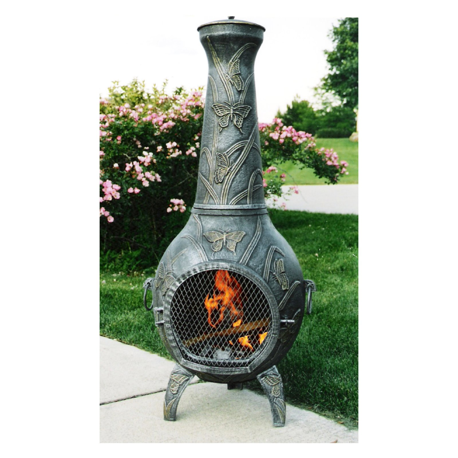 Oakland Living Antique Pewter Butterfly Chiminea by Oakland Living Corp