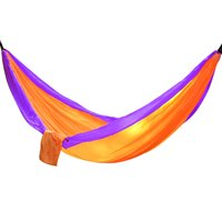 Portable Two Person Hammock - Orange with Purple