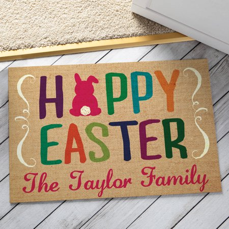Personalized Doormat - Happy Easter for $<!---->