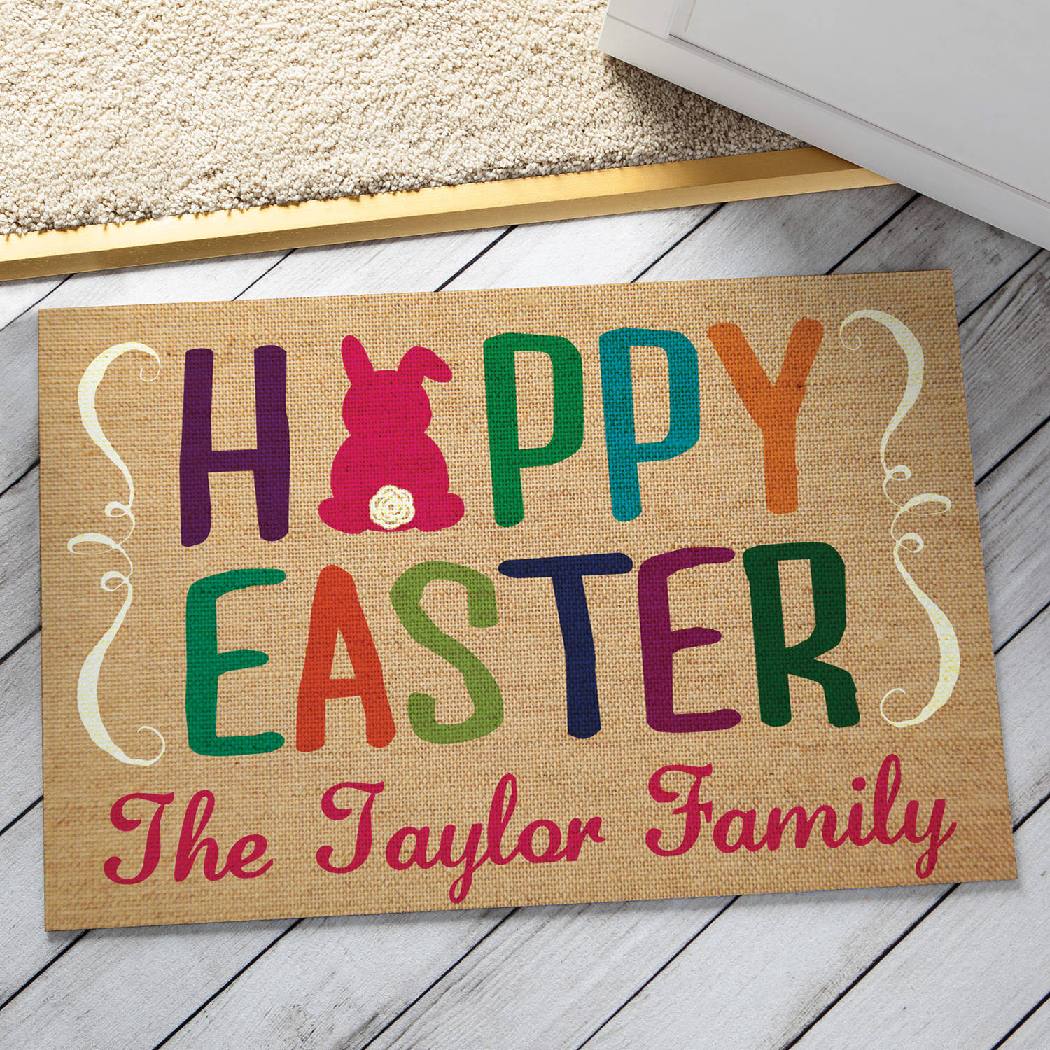 Personalized Doormat - Happy Easter