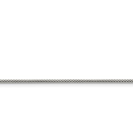 Stainless Steel 2mm 20 Inch Link Bismark Chain Necklace Pendant Charm Mesh Popcorn Gifts For Women For Her