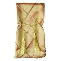 "Wedding Linens Inc. 10 pcs 20""x 20"" Premium Pintuck Taffeta Table Linen Napkins for Party Wedding Reception Catering Dining Home Restaurants - Gold"