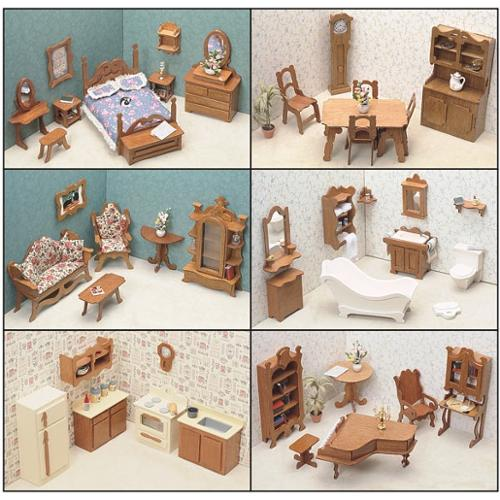Greenleaf Six Room Dollhouse Kit