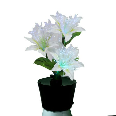 - Lightahead LED Fiber Optic Flowers Lamp Centerpieces with Vase for Indoor Use (4 Lily)