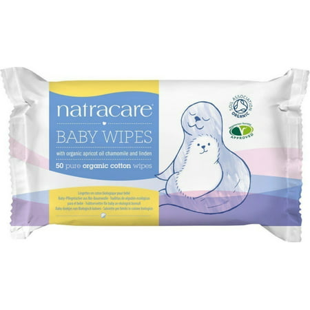 Natracare Organic Cotton Baby Wipes 50 ea