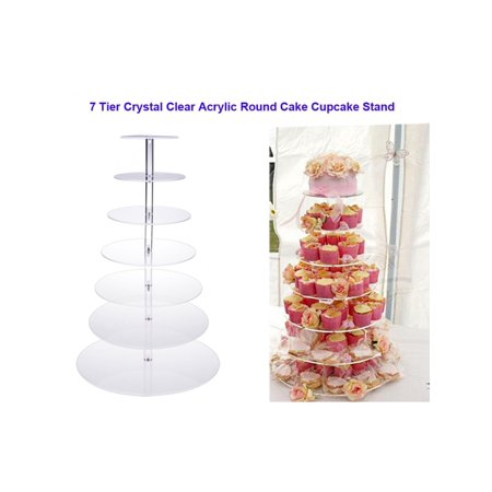 7 Tier Cake Stand Tier Round Wedding Party Tree Tower Acrylic Cupcake Display Stand