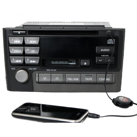 2001 Nissan Maxima Radio AM FM Cassette CD w Auxiliary Input 2415D Face CNB88 - Refurbished - Nissan Auxiliary Input