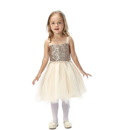 Efavormart Twinkling Sequined Bodice and Tulle Overlay Skirt Dress Birthday Girl Dress Junior Flower Girl Wedding Gown Girls Dress - Flower Girl Dress On Sale