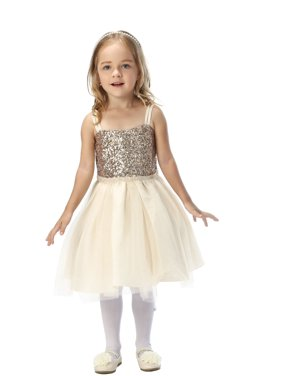 a05e5f73c Product Image Efavormart Twinkling Sequined Bodice and Tulle Overlay Skirt  Dress Birthday Girl Dress Junior Flower Girl Wedding