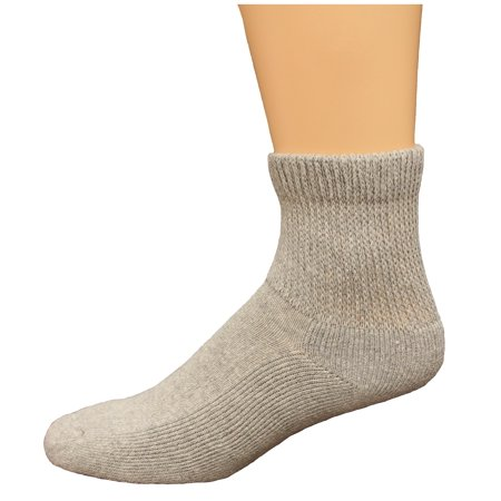 Carolina Ultimate Non-Binding Quarter Socks 2 Pair, Grey, Men