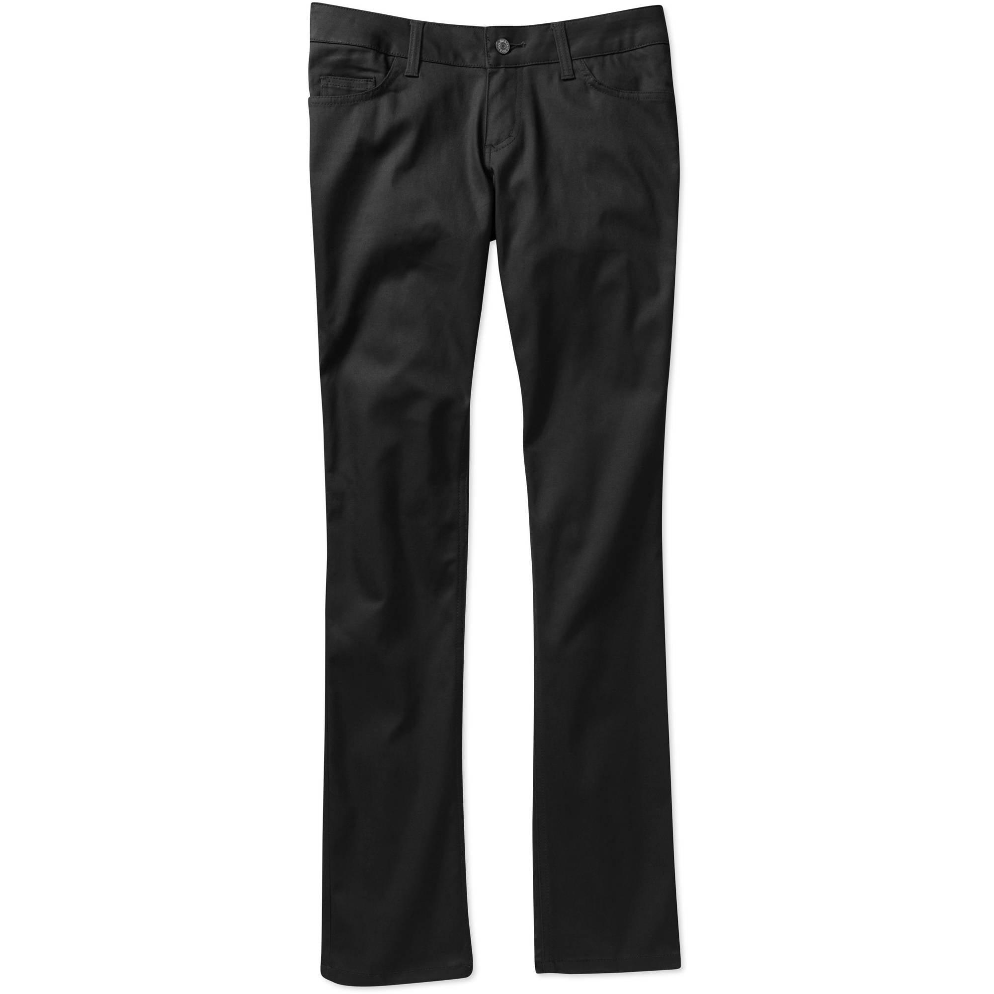 Genuine Dickies- Juniors' School Uniform 5-Pocket Stretch Twill Skinny Pants
