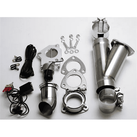 "2.5"" (63mm) Electronic Exhaust Cutout System - Aluminized Mild Steel w/ Slip Fit and Band Clamps"