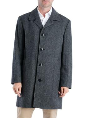 "F.O.G Men's 38"" Wool Blend Single Breasted Top Coat"