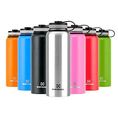 winterial insulated water bottle   40oz   double walled hot & cold   vacuum sealed   stainless steel   thermos by Winterial
