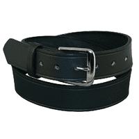 Off Duty Garrison Belt, 1 1/2 Brass Black Basket Weave