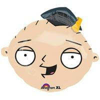"""Family Guy Stewie Grad Head Graduation 20"""" Jr Shape Foil Balloon"""