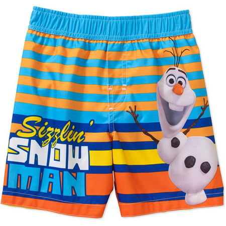 b8c10c93aa Frozen - Disney Frozen Olaf Sizzling Baby Toddler Boy Swim Trunks -  Walmart.com