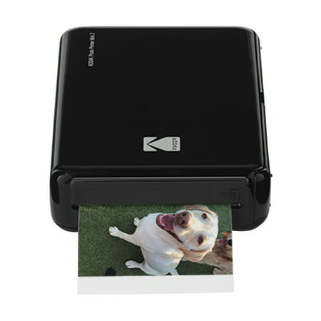 Kodak Mini 2 HD Wireless Mobile Instant Photo Printer w/4PASS Patented Printing Technology (Black) – Compatible w/iOS & Android Devices - Real Ink In An Instant