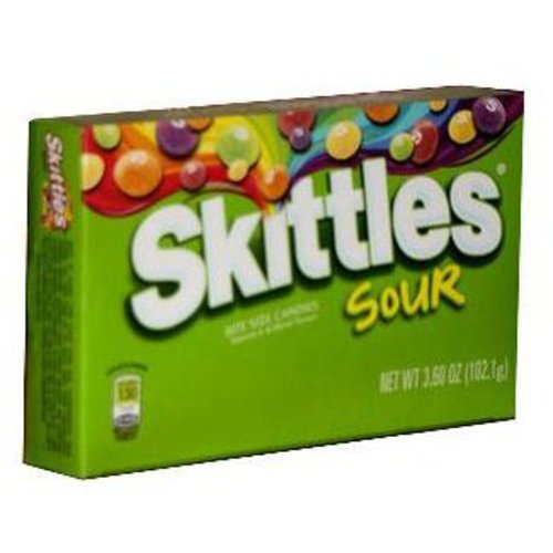 Skittles Sour Candy, 3.2 Oz., 12 Count