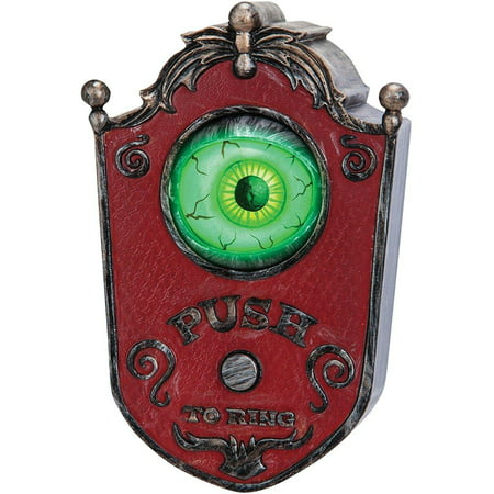 Eyeball Doorbell Animated Halloween Decoration - Decoration Tombe Halloween