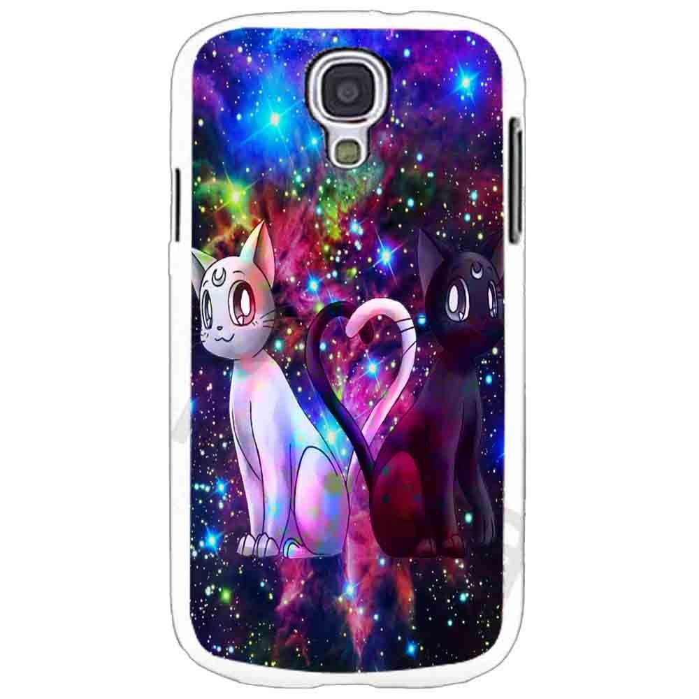 Ganma artemis and luna sailor moon galaxy HND Case For Samsung Galaxy Case (Case For Samsung Galaxy S4 White)