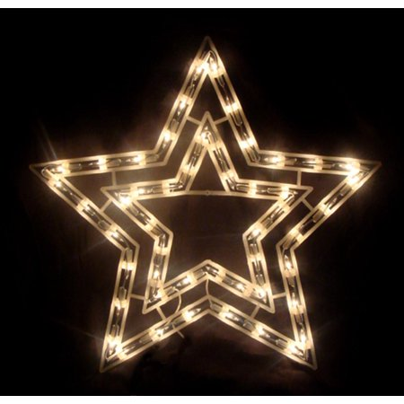 17 clear lighted star christmas window silhouette decoration