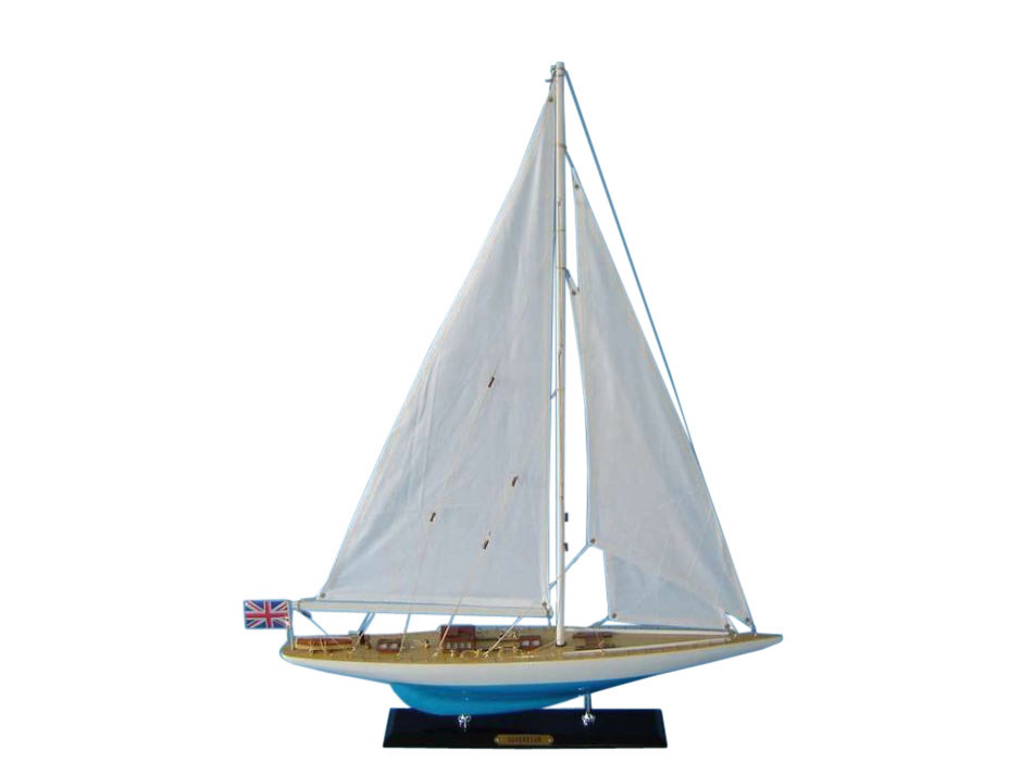 """Sovereign Limited 27"""" Model Sailing Yacht Wooden Sailboat Decoration Nautical Decor Nautical Centerpiece Wood Model Sailboat Not A... by Handcrafted Nautical Decor"""