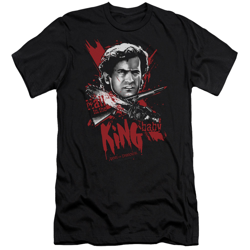 Mgm Army Of Darkness Hail To The King Mens Slim Fit Shirt